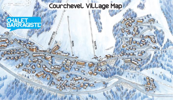 Courchevel Village Map